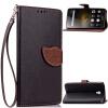 Черный Дизайн Кожа PU откидная крышка бумажника карты держатель чехол для Lenovo Vibe P1 lenovo vibe c2 k10a40 dual sim 8gb lte black
