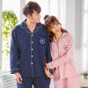 Арктический бархат хлопок пижамы домашний сервис мужчин и женщин пары пижамы могут носить с длинными рукавами кардиган хлопок досуга домашний костюм костюм мужской тибетский зеленый точка XL домашний кабинет