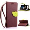 Коричневый Дизайн Кожа PU откидная крышка бумажника карты держатель чехол для Huawei P8 Lite велосипед и одуванчика дизайн кожа pu откидная крышка бумажника карты держатель чехол для huawei p8 lite