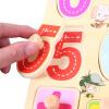 Дани странно (Dan Ni Qi Te) + цифровой диск сцепления раннего детства алфавит кусок головоломки деревянные детские игрушки алфавитно-цифровой ребенок когнитивно развивающие игрушки 1-3 лет познавательный смысл введение CDN-8018 danniqite развивающие игрушки большие детские кубики 12 зодиакальных знаков года рождения 1 3 6 лет 160 кусков cdn 4138