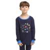 Только Луи (VIV & LUL) Детские комплекты белья комплекты белья младенца мальчиков Qiuyiqiuku пижамы DV418318 ВМС 140см