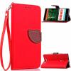 Красный Дизайн Кожа PU откидная крышка бумажника карты держатель чехол для Nokia Lumia 830