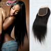 Grade 8A YYONG волос Бразильская кружевная застежка 4 * 4 бразильская пряжа волос для волос Прямая средняя часть Бесплатная доставка Бесплатная доставка