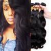 Ранг 8A Естественный цвет Индийский цвет волос волос волос волос 3 волос / серия Хорошее качество Человеческие волосы соткать необработанную индийскую волну тела