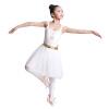 Yi Кси Лин YIXLW ребенок платья принцесса пачка балет одежда и танцы одежда 130сма белой потрясающая серия Fei Lixi балет щелкунчик