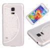 Цветок полукруга Pattern Мягкая тонкая резиновая оболочка из силиконового геля TPU для SAMSUNG Galaxy S5 Mini