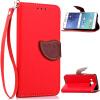 Красный Дизайн Кожа PU откидная крышка бумажника карты держатель чехол для Samsung Galaxy J5 silicone phone case with lanyard for iphone 7 plus
