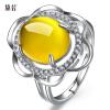 Если Dai халцедон драгоценными камнями Кольца женские модели 925 посеребренные розового золота кольцо способа открытия указательный палец кольцо, чтобы отправить его подруга подругам украшения День Святого Валентина подарок dai shi han