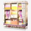 Красивый дом Простой гардероб Ткань Гардероб Многофункциональный гардероб Стальная труба 136S с башмаками для обуви Малый парусник женский гардероб