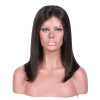Glueless Lace Front Human Hair Wigs Straight Non-Remy Hair Wigs 150%Density With Baby Hair Natural Color Lace Wigs