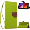 Зеленый дизайн Кожа PU откидная крышка бумажника карты держатель чехол для ASUS ZenFone 2 Laser (ZE500KL) чехол накладка pulsar clipcase для asus zenfone 2 laser ze550kl красный