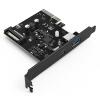 YottaMaster C1 USB3.1 двухскоростной интерфейс карты расширения настольного компьютера материнская плата PCI-E интерфейс 15pin интерфейс питания Черный плата расширения soundcraft sio usb firewire