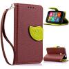 Коричневый Дизайн Кожа PU откидная крышка бумажника карты держатель чехол для Nokia Lumia 530
