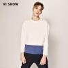 Вэй Xiu (viishow) белый хеджирование с длинными рукавами футболки мужские случайные мужчины длинные t хит цвет Цю одежды базы TC1395171 белый XL