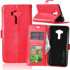 Red Style Classic Flip Cover с функцией подставки и слотом для кредитных карт для Asus Zenfone ZD552KL pink style classic flip cover с функцией подставки и слотом для кредитных карт для asus zenfone zoom zx551ml