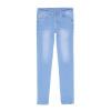 Фото Basic House 100 хорошая корейская версия весны Тонкие тонкие джинсы носят белые штаны штаны карандашные штаны HQDP221A озеро синий M джинсы женские basic house 14 hodp725adl