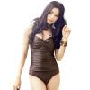 Yi Zi (EZI) законсервирован размер женский купальник груди собирать крышки живот тонкой большого размера купальник съемной юбку юбку Ezi1063 коричневого L bonpoint блуза с принтом gazelle