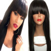 Brazilian virgin full lace human hair wigs for black women glueless full lace front human hair wigs with baby hair full bangs