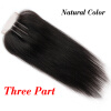 Top Quality Brazilian Virgin Human Straight Hair 4x4 Lace Closure 3 Way Part Bleached Knots Free Middle Three Part Free Shipping free shipping free part virgin brazilian hair silk base closure 4x4 natural color straight silk top closure
