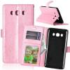Pink Style Classic Flip Cover с функцией подставки и слотом для кредитных карт для Samsung GALAXY J3 Pro
