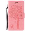 Pink Tree Design PU кожа флип крышку кошелек карты держатель чехол для MOTO Z FORCE