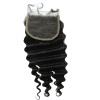 QDKZJ Недорогое качество Свободное бразильское глубокое волновое завивание Кружевное закрытие Свободное Среднее 3 части Задние волосы для волос с частью Кружева B недорогое платье запахом для полных