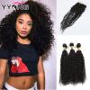 Перуанские девичьи волосы с закрытием 8A Непревзойденные человеческие волосы 8A с закрытием Afro Kinky Curly Virgin Hair With Closure dynacord dynacord d 8a