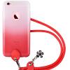 Pizza iphone6sPlus случай мобильного телефона с талрепом яблоком 6Plus силиконовый мягкий корпус чехол розовый 5.5 дюймов