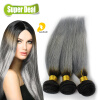3pcs Dark Root Brown Gray Ombre Weave Brazilian Virgin Hair Straight Two Tone Blonde Gray/Grey Weave Bundles игрушка ecx ruckus gray blue ecx00013t1