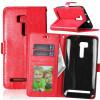 Red Style Classic Flip Cover с функцией подставки и слотом для кредитных карт для Asus ZenFone Zoom ZX551ML чехол для смартфона asus для zenfone zoom zx551ml leather case оранжевый 90ac0100 bbc005 90ac0100 bbc005