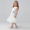 Omer младенец одевает большого девственных девушки производительности юбки платья принцессы платье M0071 белых 120 o me r omer d20
