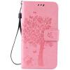 Pink Tree Design PU кожа флип крышку кошелек карты держатель чехол для LG K7