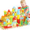 DanNiQiTe Развивающие игрушки Большие детские кубики 12 зодиакальных знаков года рождения 1-3-6 лет 160 кусков CDN-4138 развивающие деревянные игрушки кубики сладости