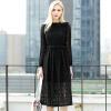 Чэнь Тун, длинная юбка 2017 Корейских моды больших ярдов полой втулка свободно длинные рукава летнего платья S71R0528A10XL черный XL