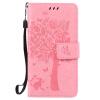 Pink Tree Design PU кожа флип крышку кошелек карты держатель чехол для SAMSUNG A5