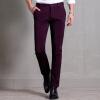 Крокодиловы мужские случайные брюки Тонкий прямые брюки стрейч мужские бизнес случайный брюки 7910 темно-синий 33