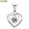 Dress up start S925 серебряное ожерелье для женщин Искусственный бриллиант цена 2017