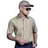 FREE SOLDIER Быстросохнущая рубашка с короткими рукавами Мужская весенняя и летняя и воздухопроницаемая рубашка