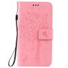 Pink Tree Design PU кожа флип крышку кошелек карты держатель чехол для LG G4