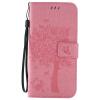 Pink Tree Design PU кожа флип крышку кошелек карты держатель чехол для SAMSUNG S7EDGE