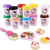 Hello Kitty HelloKitty 12 чашка 2 унции пополнение комплекта детские игрушки цвет грязи глина грязи резиновый цвет грязи печати KT-8600