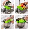 где купить MyMei Kitchen Green Silicone Clip On Snap Water Strainer Colander Bowl Pan Pot Tool по лучшей цене