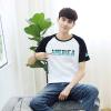 Longyue мужчин моды печати хит цвет вращатель манжета шею с коротким рукавом футболка LMTD172257 белый XL манжета приборная выпускная симтек 110 мм цвет белый