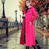 DF · RS 2016Новая Англия женщин осенью и зимой пальто ретро ветровка длинные тонкие европейские и американские моды пальто было то пальто katerina bleska