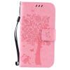 Pink Tree Design PU кожа флип крышку кошелек карты держатель чехол для SAMSUNG J2