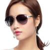 [Супермаркет] Jingdong Зубные ТЭНы поляризованные очки женщина лягушки на открытом воздухе автомобиля солнцезащитные очки 8501 серебряный цвет рамки серый съ мные зубные протезы