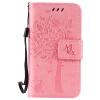 Pink Tree Design PU кожа флип крышку кошелек карты держатель чехол для IPHONE 4