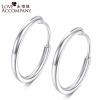 Навсегда рука об руку Promise S925 чистого серебра уха небольшой круг мужчин и женщин в этом же пункте простые серебряные серьги серебряные серьги
