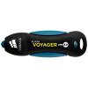 Американский Corsair (USCORSAIR) Voyager USB3.0 128GB высокоскоростной U диск прочный резиновый корпус синий водонепроницаемый и ударопрочный usb flash накопитель 128gb kingston hyperx hxs3 128gb usb3 1 черный