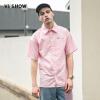 Wei Xiu viishow короткий рукав рубашка мужской чистый розовый мужской рубашка с длинным рукавом вышивка рубашка CD16471721 розовый XL рубашка